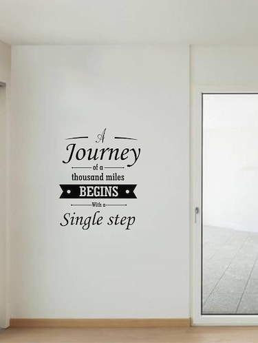 Rawpockets Wall Decals ' Quote on Journey '  Wall stickers (PVC Vinyl) Multicolour - 15733827 - Standard Image - 1