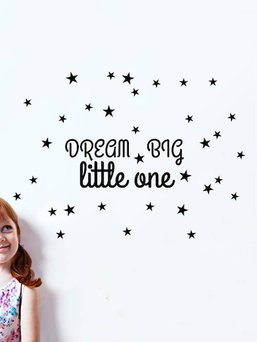 Rawpockets Wall Decals ' Baby Room : Dream Big Little One '  Wall stickers (PVC Vinyl) Multicolour - 15733836 - Standard Image - 1