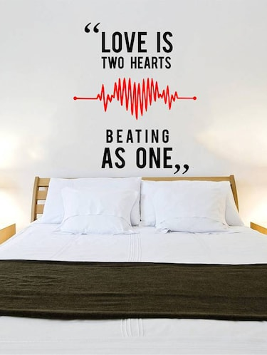 Rawpockets Wall Decals ' Love Quote  '  Wall stickers (PVC Vinyl) Multicolour - 15733845 - Standard Image - 1