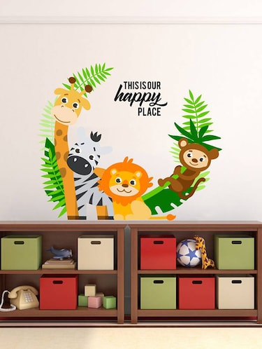 Rawpockets Wall Decals ' Living Room : This is Our Happy Place '  Wall stickers (PVC Vinyl) Multicolour - 15733849 - Standard Image - 1