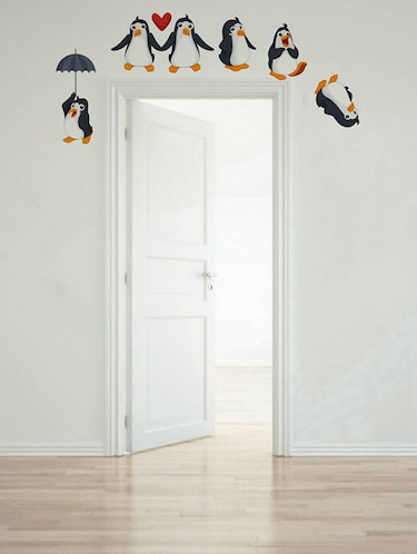 Rawpockets Wall Decals ' Living Room : Funny Penguins '  Wall stickers (PVC Vinyl) Multicolour - 15733863 - Standard Image - 1