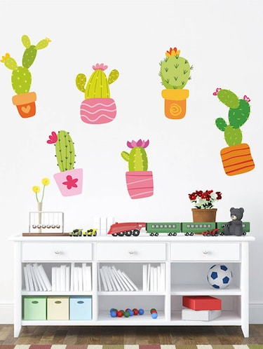 Rawpockets Wall Decals ' Cactus Story '  Wall stickers (PVC Vinyl) Multicolour - 15733904 - Standard Image - 1
