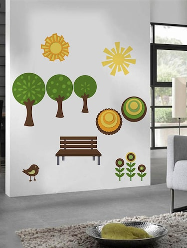 Rawpockets Wall Decals ' Natural Park '  Wall stickers (PVC Vinyl) Multicolour - 15733928 - Standard Image - 1