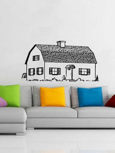 Rawpockets Wall Decals ' Beautiful Village House  '  Wall stickers (PVC Vinyl) Multicolour - 15733933 - Standard Image - 1