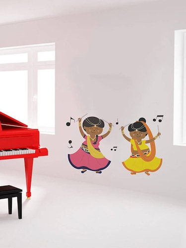 Rawpockets Wall Decals ' Dandiya with Music '  Wall stickers (PVC Vinyl) Multicolour - 15733936 - Standard Image - 1