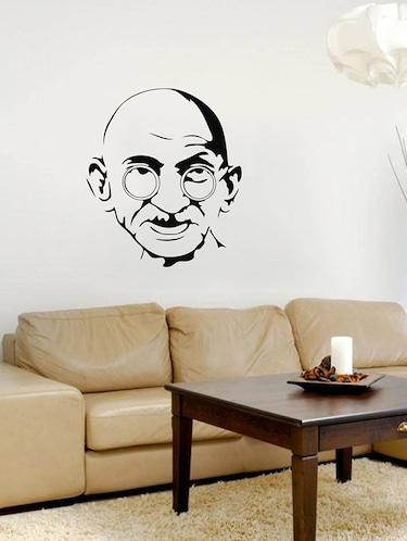 Rawpockets Wall Decals ' Gandhiji - Father of Indian Nation '  Wall stickers (PVC Vinyl) Multicolour - 15733972 - Standard Image - 1