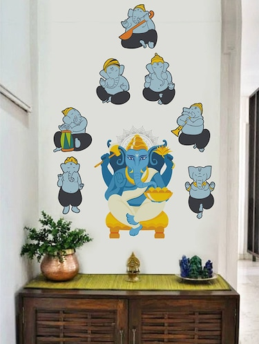 Rawpockets Wall Decals ' Lord Ganesha Troops Combo '  Wall stickers (PVC Vinyl) Multicolour - 15733976 - Standard Image - 1