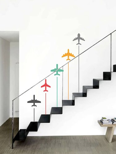 Rawpockets Wall Decals ' Colorful Airplanes - Kid's Room '  Wall stickers (PVC Vinyl) Multicolour - 15733997 - Standard Image - 1
