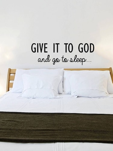 "Rawpockets Wall Decals ' "" Give it to God "" Quote '  Wall stickers (PVC Vinyl) Multicolour - 15734029 - Standard Image - 1"