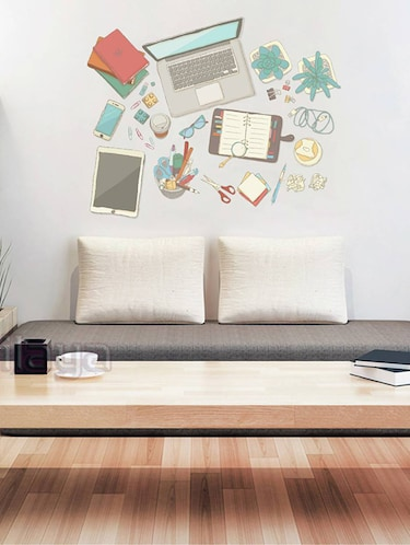 Rawpockets Wall Decals ' Today's Modern Gadgets '  Wall stickers (PVC Vinyl) Multicolour - 15734045 - Standard Image - 1