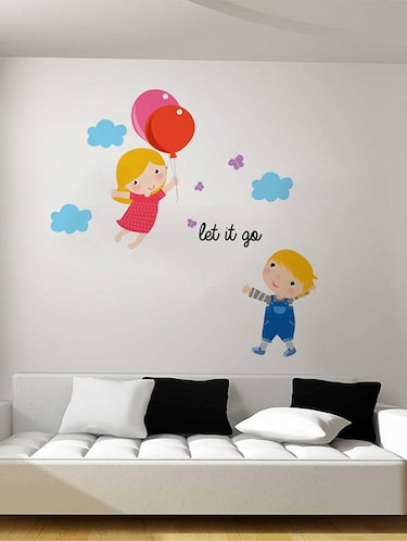 Rawpockets Wall Decals ' Let it go Cartoon - Kid's Room '  Wall stickers (PVC Vinyl) Multicolour - 15734046 - Standard Image - 1