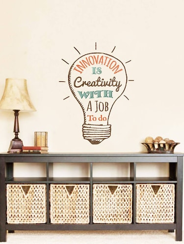 Rawpockets Wall Decals ' Quote on Innovation '  Wall stickers (PVC Vinyl) Multicolour - 15734068 - Standard Image - 1