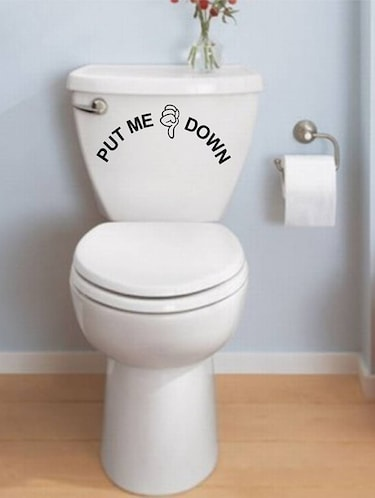 Rawpockets Wall Decals ' Put me Down - Toilet  '  Wall stickers (PVC Vinyl) Multicolour - 15734070 - Standard Image - 1
