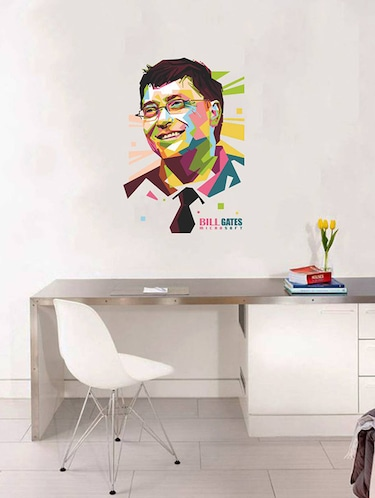 Rawpockets Wall Decals ' Bill Gates - Inspiration '  Wall stickers (PVC Vinyl) Multicolour - 15734088 - Standard Image - 1