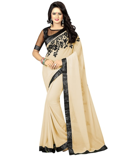 floral dori embroidered saree with blouse - 15734908 - Standard Image - 1
