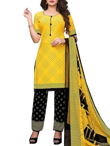 Printed unstitched palazzo suit - 15734935 - Standard Image - 1