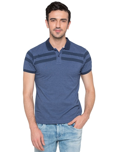 blue cotton polo t-shirt - 15735246 - Standard Image - 1