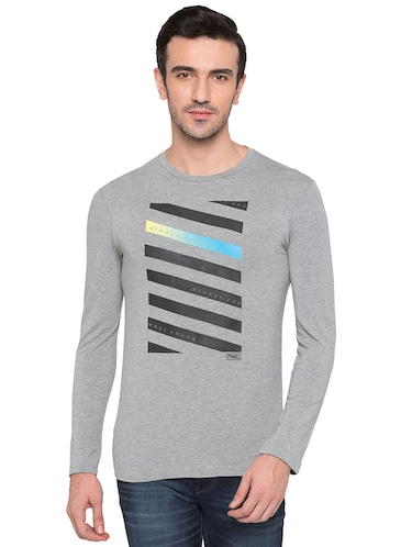 grey viscose t-shirt - 15735269 - Standard Image - 1