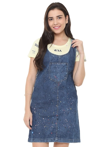 pocket patch pinafore dress - 15735387 - Standard Image - 1