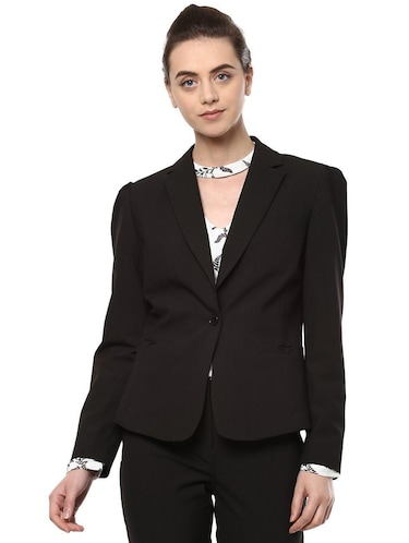 pin striped lapel collar blazer - 15735421 - Standard Image - 1