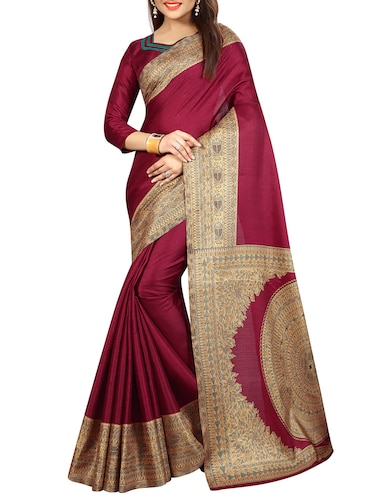 madhubani printed border saree with blouse - 15735436 - Standard Image - 1