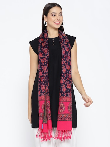 Self-design viscose stole - 15735744 - Standard Image - 1