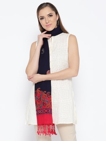 Self-design viscose stole - 15735757 - Standard Image - 1