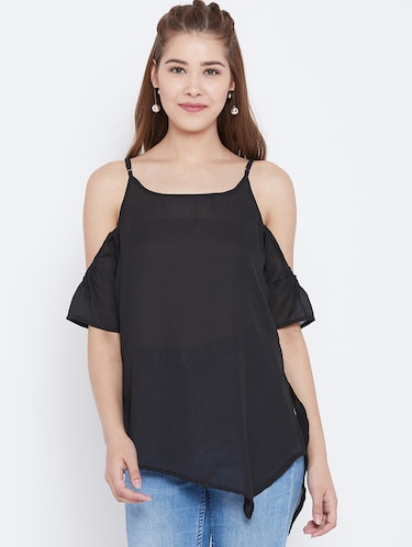 cold shoulder asymmetric top - 15735855 - Standard Image - 1