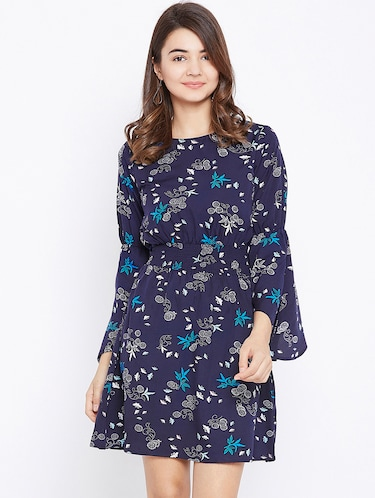smocked waist bell sleeved dress - 15735924 - Standard Image - 1