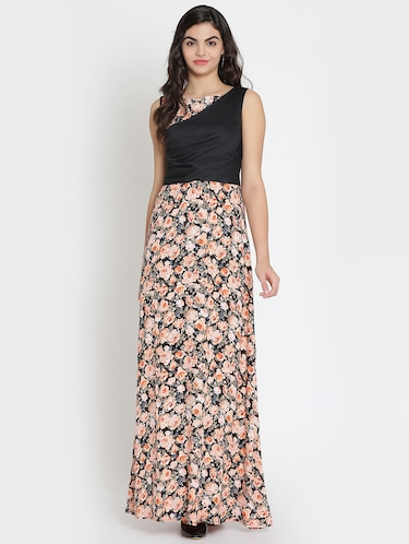 gathered detail floral maxi dress - 15736796 - Standard Image - 1