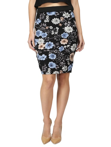 high rise floral pencil skirt - 15736809 - Standard Image - 1