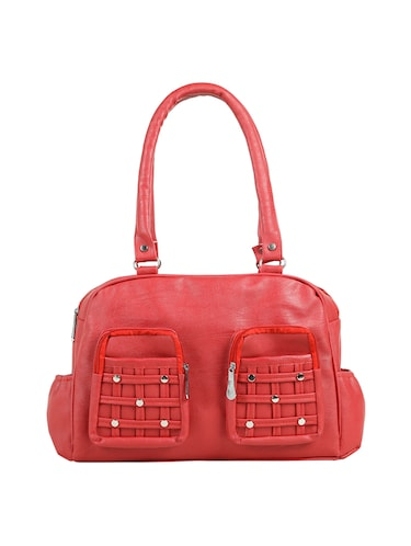 red leatherette (pu) regular handbag - 15737058 - Standard Image - 1