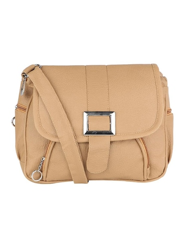 beige leatherette (pu) regular sling bag - 15737260 - Standard Image - 1