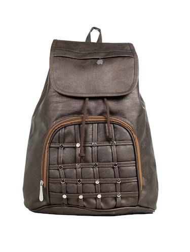 brown leatherette (pu) fashion backpack - 15737536 - Standard Image - 1