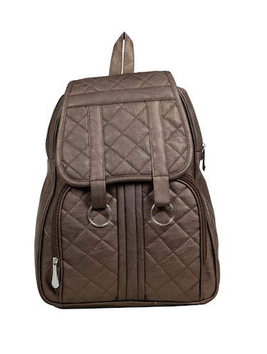 brown leatherette (pu) fashion backpack - 15737544 - Standard Image - 1