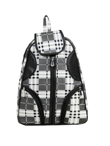 black leatherette (pu) fashion backpack - 15737546 - Standard Image - 1