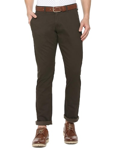 brown cotton chinos - 15737584 - Standard Image - 1