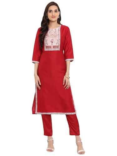 Printed kurta with pant set - 15737629 - Standard Image - 1
