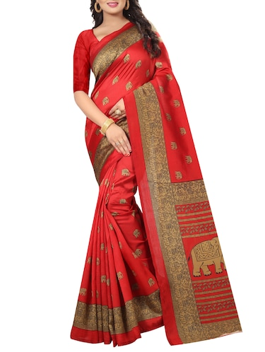 kalamkari mysore silk saree with blouse - 15738102 - Standard Image - 1