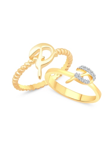 gold metal finger  ring - 15738980 - Standard Image - 1