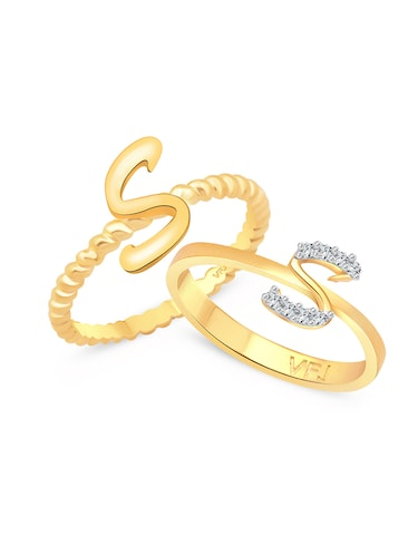 gold metal finger  ring - 15738982 - Standard Image - 1