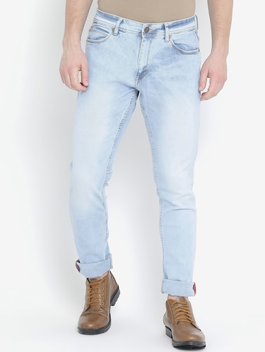 blue denim washed jeans - 15739147 - Standard Image - 1