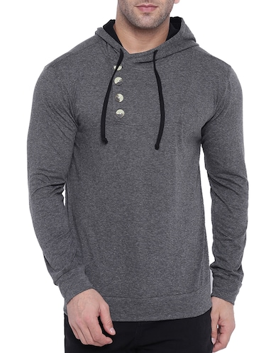 grey cotton t-shirt - 15739179 - Standard Image - 1