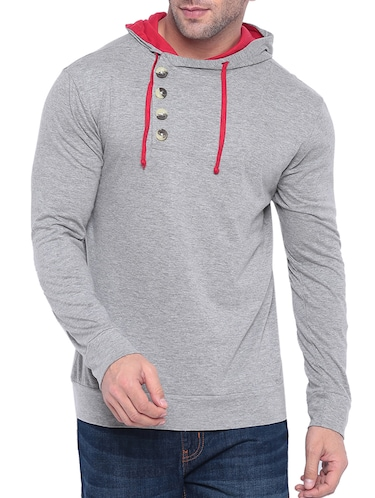 grey cotton t-shirt - 15739181 - Standard Image - 1