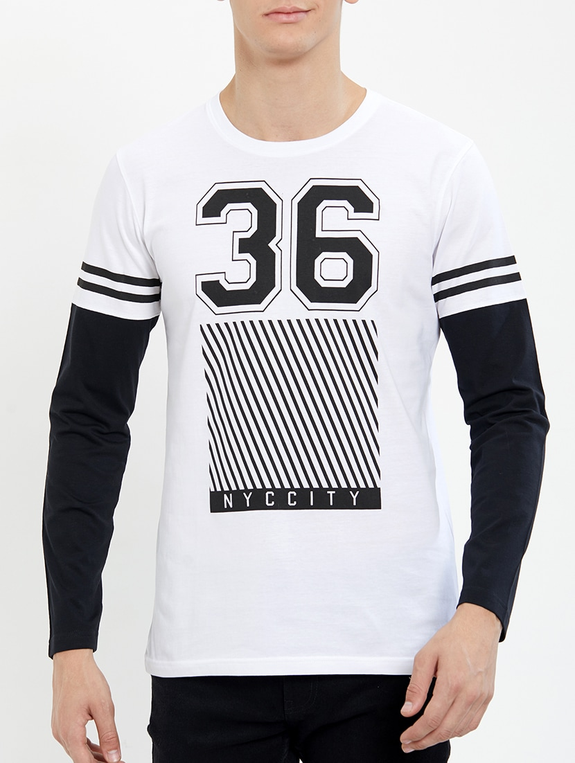 ac8659d39 Buy White Chest Print T-shirt for Men from Jump Cuts for ₹475 at 55 ...