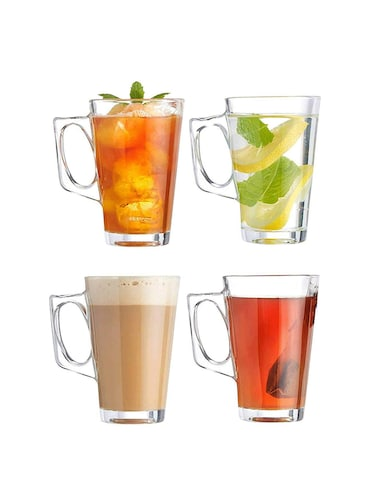 Coffee Glass Mug, 260 ml, Set of 4 - 15767127 - Standard Image - 1