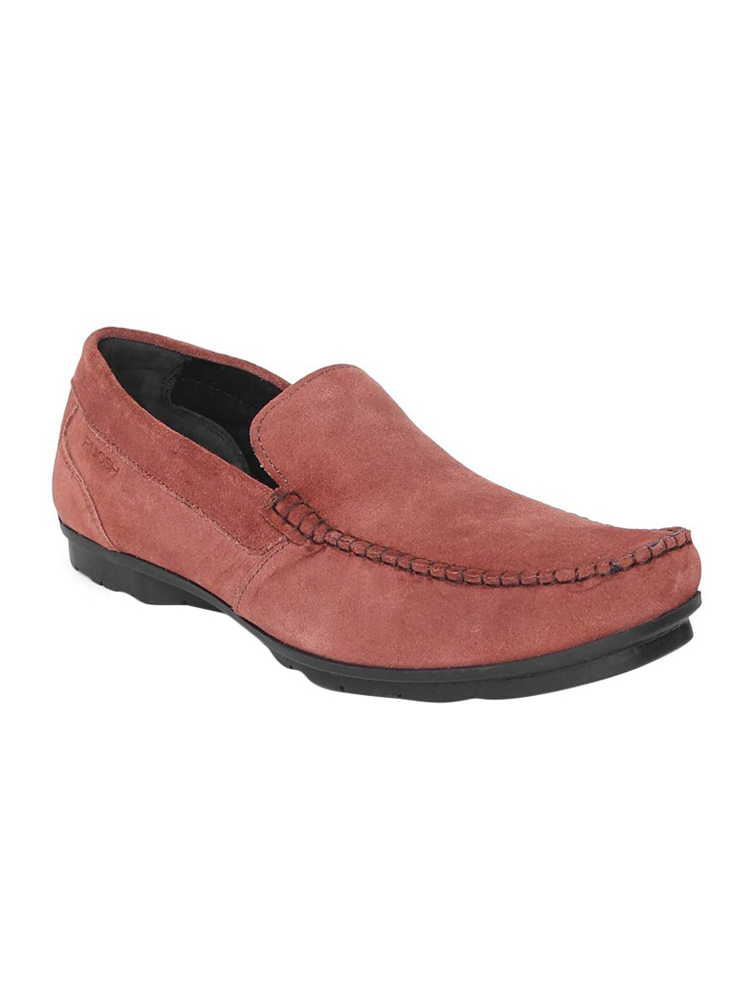 2e92e9743b1 Buy Red Suede Slip On Loafers for Men from Ruosh for ₹2531 at 37 ...