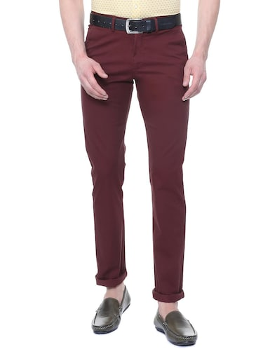 red cotton chinos - 15814606 - Standard Image - 1