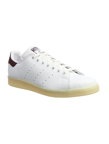 white Leather lace up sneakers - 15825594 - Standard Image - 1