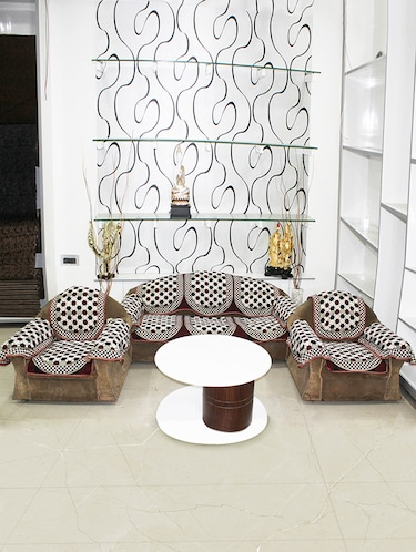 Pleasing Bhavya 5 Seater Cotton Set Of 12 Sofa Cover Set Pabps2019 Chair Design Images Pabps2019Com